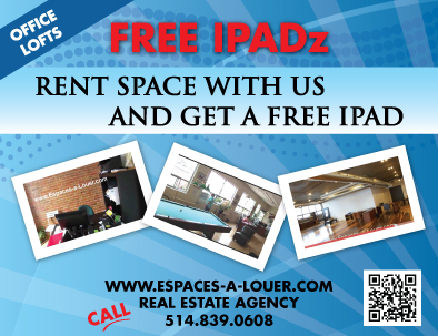 Rent office space with us and get a free Ipad
